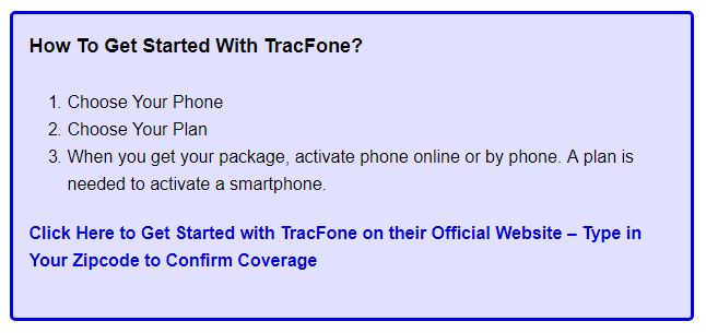 Get Started with Tracfone