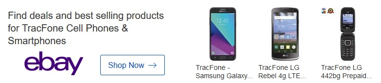 Tracfone deals on eBay