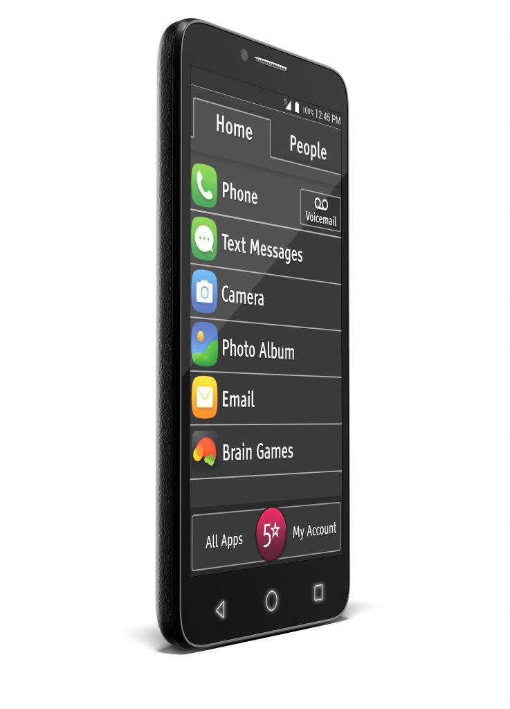 Jitterbug smart phone side view